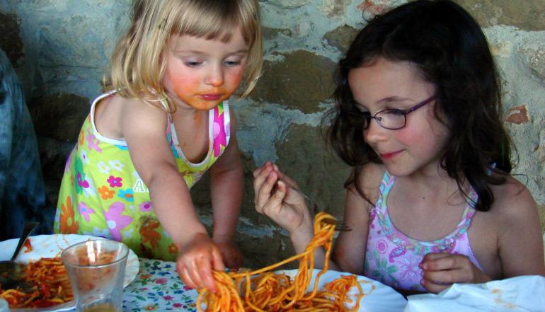 Two Girls Sharing