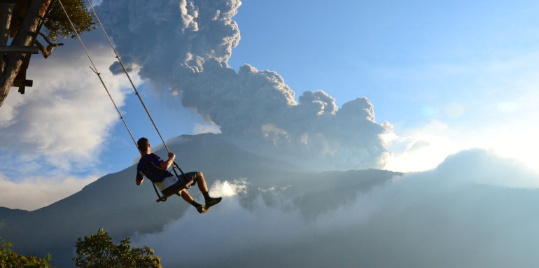 Man on a Swing